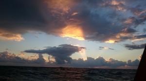 En magisk kväll på Atlanten